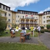 Rainbacher Böhmische spielt im Seniorenwohnheim